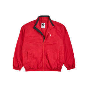 POLAR SKATE CO TRACK JACKET RED/ BLACK