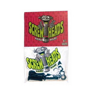 SCREWHEADS SKATEBOARD BOLTS 1 INCH