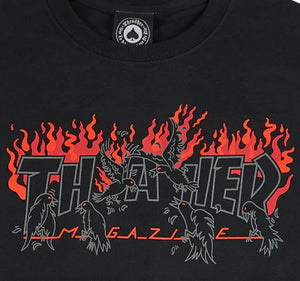 THRASHER MAGAZINE CROWS TSHIRT BLACK