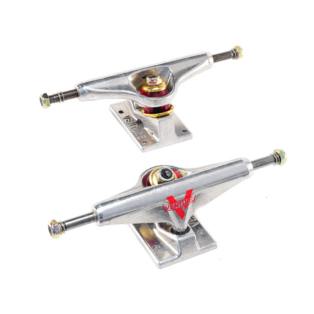 VENTURE TRUCKS RAW POLISHED SKATEBOARD TRUCKS (PAIR)