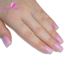 False Nails Bling Art Glitter Pink French Manicure Fake Medium Tips with Glue