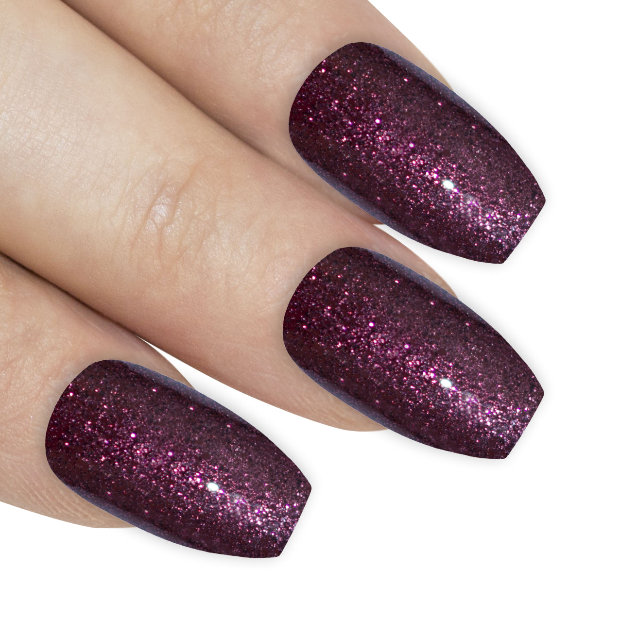 False Nails by Bling Art Red Brown Gel Ballerina Coffin Fake Long Acrylic Tips, Nail Care by Bling Art