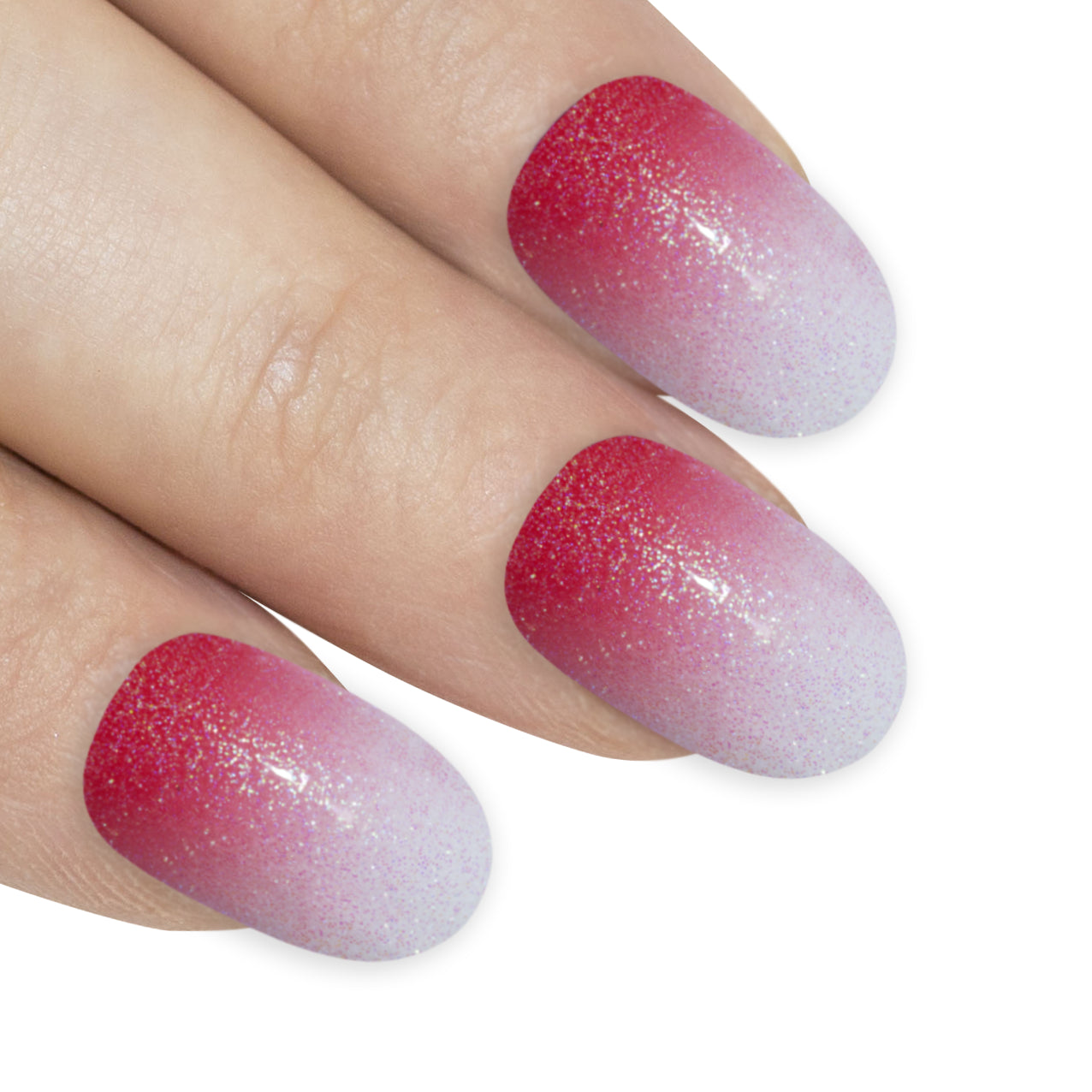 False Nails by Bling Art Red Gel Ombre Oval Medium Fake Acrylic 24 Tips Glue, Health & Beauty by Bling Art