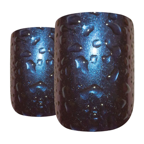 False Nails by Bling Art Blue Purple Water French Squoval 24 Fake Medium Tips - Bling Art