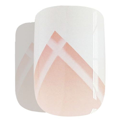 False Nails by Bling Art White Lines French Manicure Fake Medium Tips with Glue - Bling Art