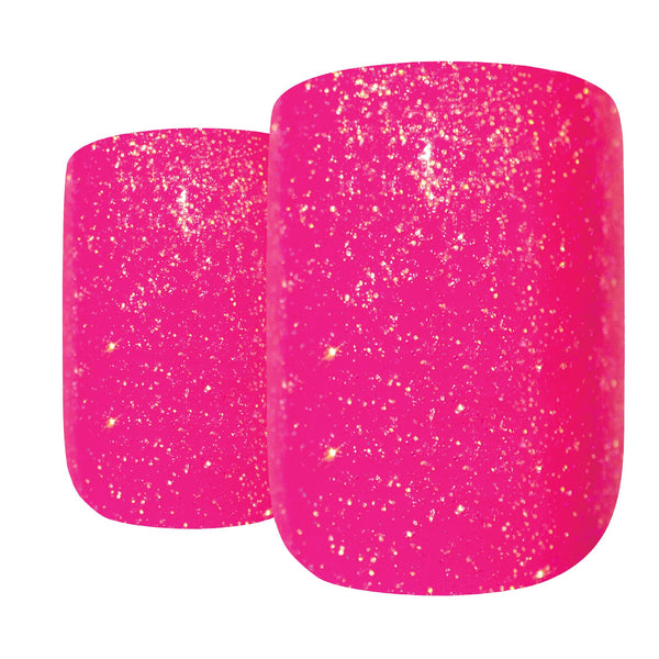 False Nails by Bling Art Pink Gel French Manicure Fake Medium Tips with Glue - Bling Art
