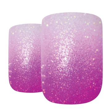 False Nails by Bling Art Magenta Gel Ombre French Squoval 24 Fake Medium Tips