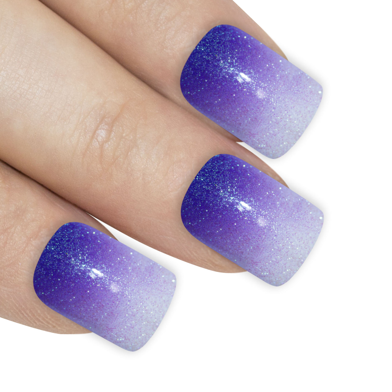 False Nails by Bling Art Purple Gel Ombre French Squoval 24 Fake Medium Tips, Nail Care by Bling Art