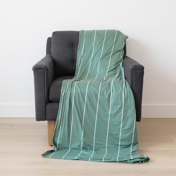 Woven Nook blanket on chair