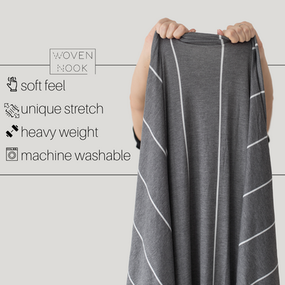 Premium Stretch Throw Blanket - Coal