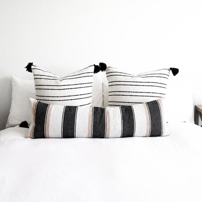 Moroccan Weave Pillow Cover - 12x40'' Lumbar - KILN