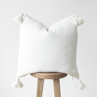 Moroccan Pom Pom Pillow Cover - 22'' - Casablanca