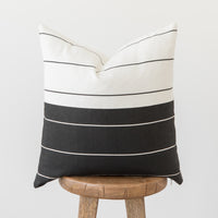 B&W Stripe Single - 18''