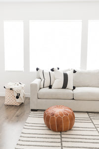 Moroccan Pouf - Mara in Brown