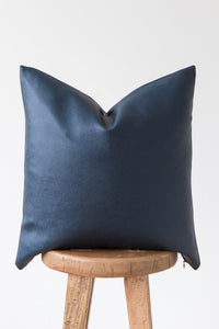 Navy - Faux Leather Single - 18''