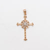14k Gold Cross with Diamond | 554