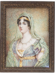 French Miniature painting A younger sister of Napoleon Bonaparte | 3213