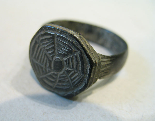 Byzantine Bronze Ring with Engraving, 7th -11th century AD | 0333