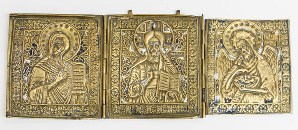 Russian Bronze Triptych of Deisis | 3807