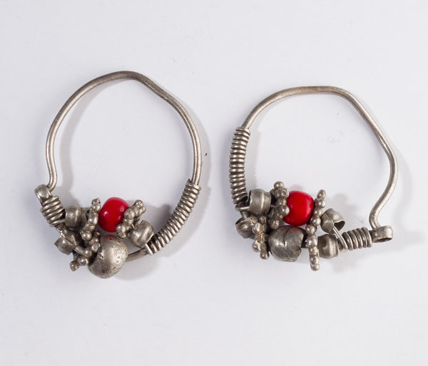 Antique Ethnic Tribal Earrings | 3726