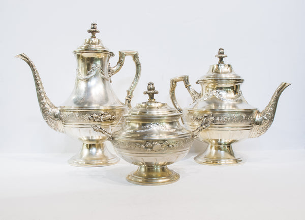 German Silver-Gilt Tea & Coffee Set, ca 1870 | 4237