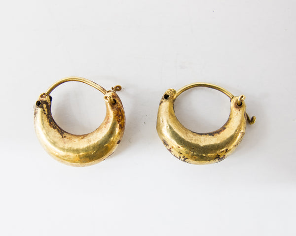 4423 | Bronze & Gold Earrings, 2nd-3rd Century BC, Greece