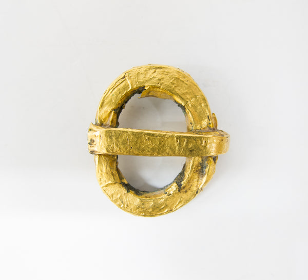 4424 | Bronze And Gold Ostgotic Buckle, 4-6th Century AD