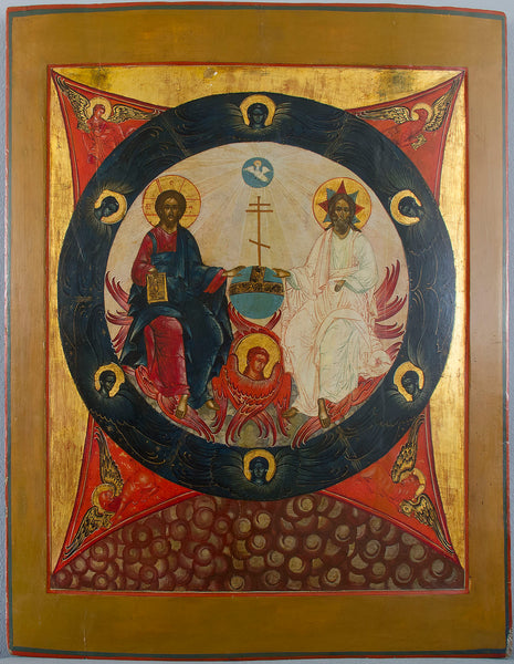 Russian Icon: NEW TESTAMENT TRINITY | 4466