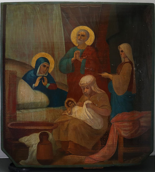 Russian Icon: NATIVITY OF VIRGIN | 4477