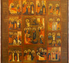 Russian Icon: Resurrection with Twelve Feasts | 4489