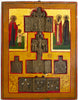 Russian icon: Kirik and Oulitta with two Saints | 4558