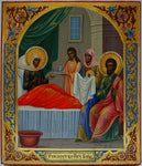 4548 | RUSSIAN ICON: THE NATIVITY OF THE MOTHER OF GOD