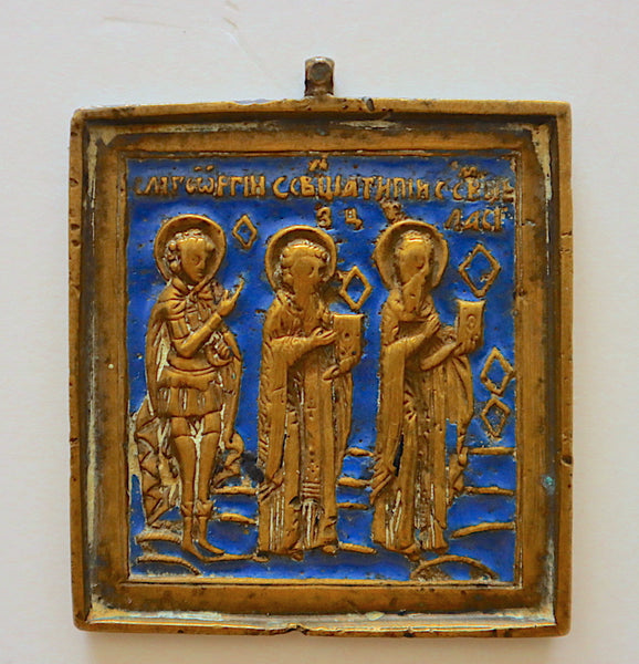 4560 | Russian Bronze Icon: Tree Saints