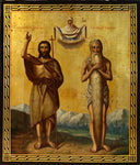 4826 | Russian icon: Two Saints: ST.JOHN THE BAPTIST and  ONOUPHRIOS THE EGIPTIAN.