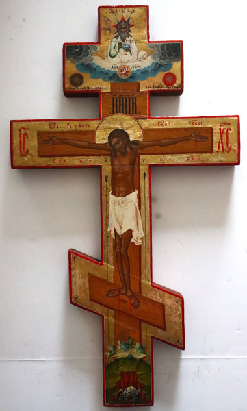 4834 | Russian icon: A LARGE ICON-CROSS CRUCIFIX