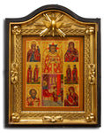 4508 | Russian Icon of the Savior of Blessed Silence & Nativity of the Mother of God