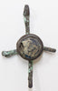 Byzantine Bronze Cross 9-11th century, with Stone in the Center | 1802