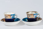 Russian Porcelain Cups & Saucers by Kuznetsov, 19th century | 2816
