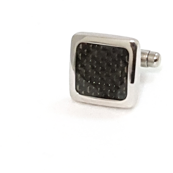 Square Cufflinks with Carbon Fiber Detail