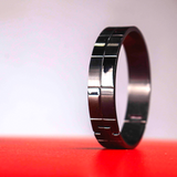 Sol Bangle in Black Steel