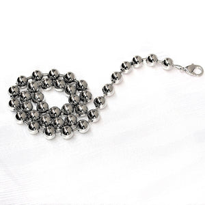 Pearls in Steel Necklace