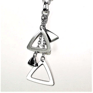 Triangle Drops Pendant and necklace set