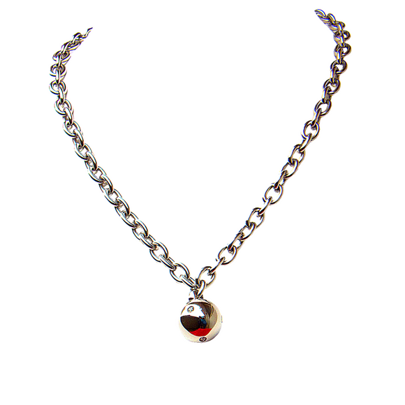 Crystal Studded Ball Pendant and Necklace Set