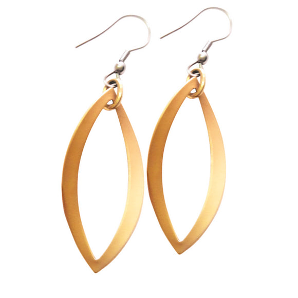Giello Brushed Gold Earrings