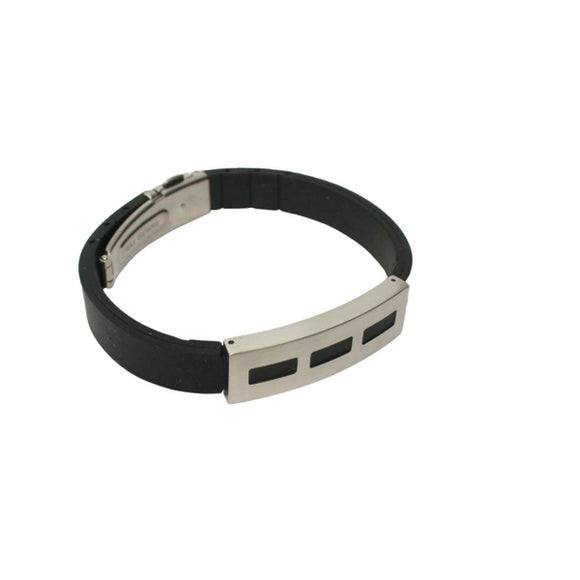 Dashes Noir Bangle