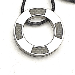 """Circle with Carbon Filler"" Pendant"