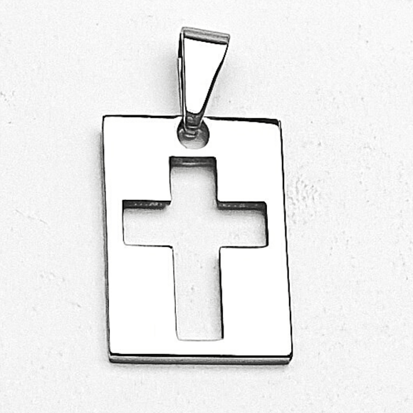 Cross Stamp Pendant