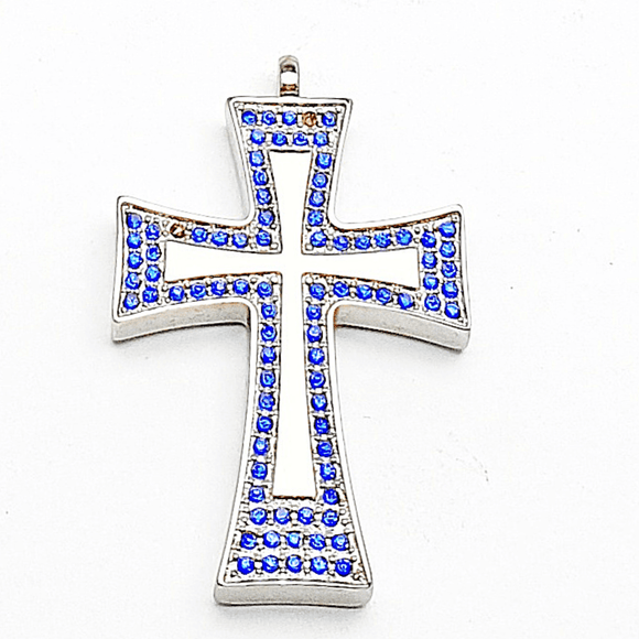 La Grace Pendant with Sapphire Crystals