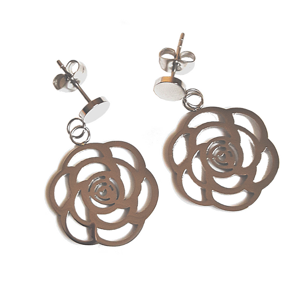 Pristine Rose Earrings