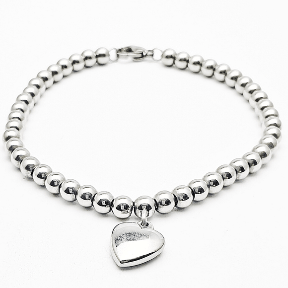 Heart Pillow Charm Bracelet
